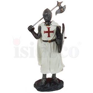Templer Kreuzritter mit Axt stehend Ritter 18cm – Bild 2