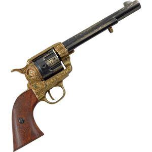 "Messingfarbener 7,5"" Deko 45er Peacemaker Kavallerie Colt verzierter Lauf 1873 – Bild 1"