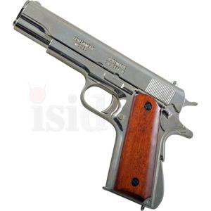 Colt Government M1911A1 nickelfarbend USA 1911 – Bild 2