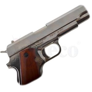 Colt Government M1911A1 nickelfarbend USA 1911 – Bild 5