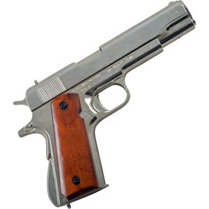 Colt Government M1911A1 nickelfarbend USA 1911 – Bild 1
