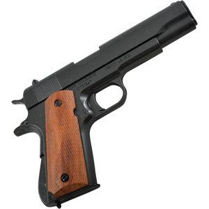 Deko Pistole Colt M1911A1 Government 1923 mit geriffelten Holzgriffschalen – Bild 1