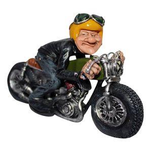 Funny Life - Motorradfahrer mit gelben Helm