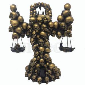 Schwarz-goldener Anubis mit Waagschalen beim Totengericht 30cm – Bild 4