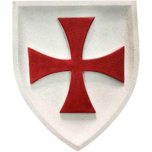 Wappen buntes Wandbild Templer Kreuzritter Tatzenkreuz 23cm – Bild 1