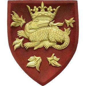 Wappen buntes Wandbild Salamandre Francois Salamander Wappentier 23cm – Bild 1