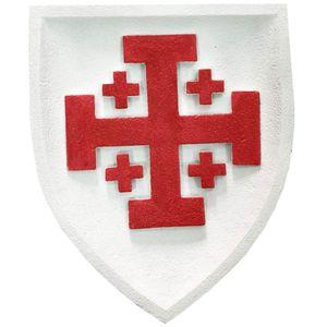 Wappen buntes Wandbild Ritterorden vom Heiligen Grab zu Jerusalem 23cm – Bild 1