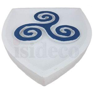 Wappen buntes Wandbild Keltisches Triskel 23cm – Bild 3