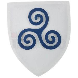 Wappen buntes Wandbild Keltisches Triskel 23cm – Bild 2