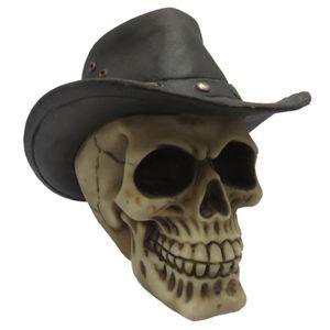 Western Totenkopf mit Cowboyhut 13cm