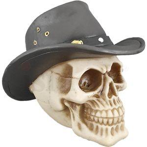 Western Totenkopf mit Cowboyhut 13cm – Bild 6