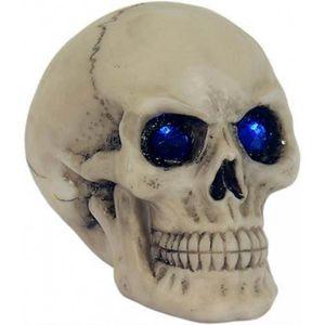 Totenkopf mit blauen Kristall Augen 7cm