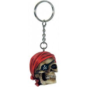 Schlüsselanhänger Piratenkopf mit rotem Bandana