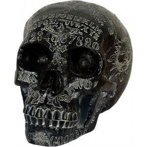 Ouija Totenkopf schwarz-weiße Witchboard Verzierung 21cm