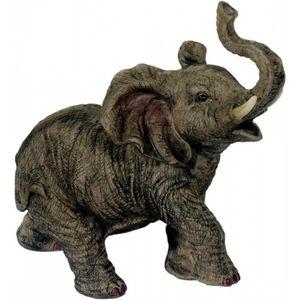 Kleiner Elefant mit Rüssel nach oben 16cm
