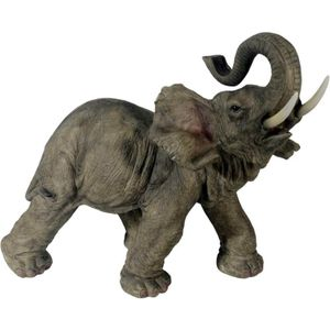 Elefant läuft mit Rüssel nach oben 54cm