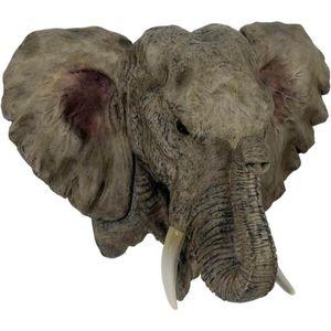 Wandrelief Elefantenkopf 40cm