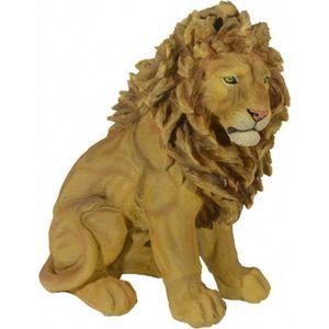 Löwe sitzt und wartet 42cm