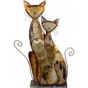 Lampe zwei Katzen - aus Muschelschalen 45cm