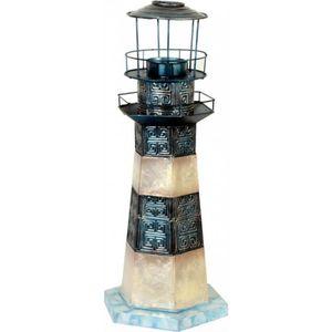 Dekofigur Leuchtturm - aus Muschelschalen 32cm