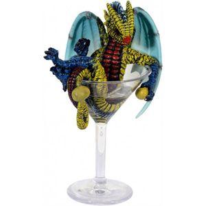 Drink Dragon - Martini by Stanley Morrison Drache im Martini Glas 23cm