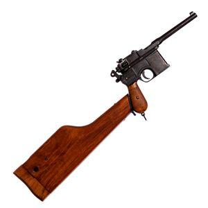 Deutsche Deko Selbstladepistole Mauser C96 mit Gewehrschaft zum öffnen – Bild 1