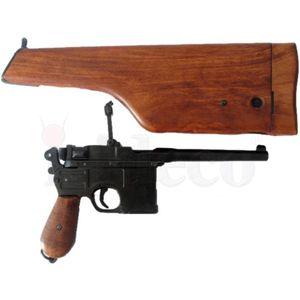 Deutsche Deko Selbstladepistole Mauser C96 mit Gewehrschaft zum öffnen – Bild 2