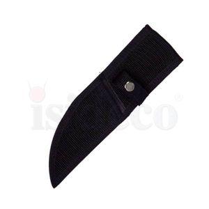 Wurfmesser 22cm mit schwarzer Kordel umwickelt in Nylonscheide – Bild 2