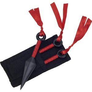 3er Set Kunai Wurfmesser mit Nylon Scheide 13cm
