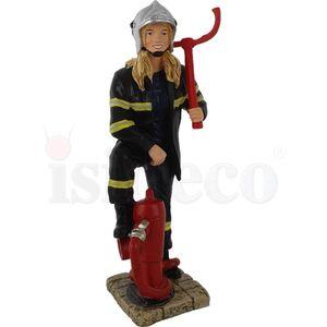 Weibliche Feuerwehr Frau am Hydranten 16cm – Bild 3