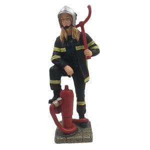 Weibliche Feuerwehr Frau am Hydranten 16cm – Bild 1
