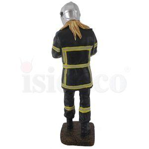 Weibliche Feuerwehr Frau mit geretteten Baby 20cm – Bild 4