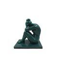 Statue La Nuit die Nacht nach Aristide Maillol bronze verwittert 13,5cm