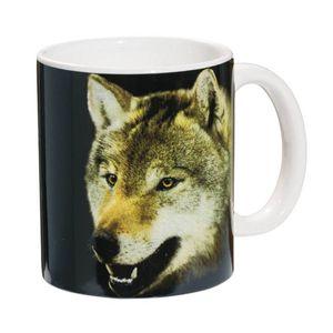 Tasse grauer Wolf fletscht die Zähne 9,5cm