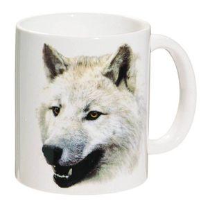 Tasse weißer Wolf fletscht die Zähne 9,5cm