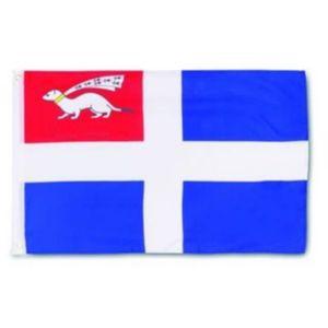 Fahne Flagge Saint Malo 30x40cm