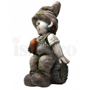 Gartenfigur Junge sitzt mit Herz in der Hand 38cm – Bild 3