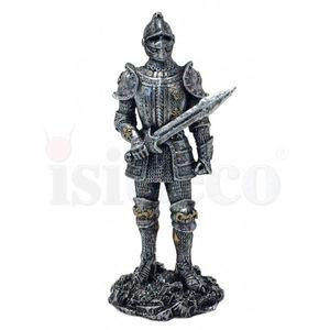 4er Set Ritter zum Kampf bereit silberfarbend 13cm – Bild 5