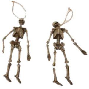 2er Set Skelette zum hängen 21cm