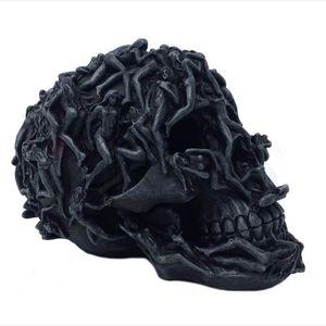 Totenkopf mit Frauen verziert 18,5cm – Bild 2