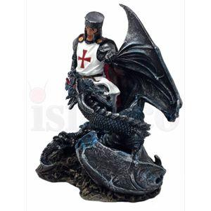 Templer Kreuzritter tötet Drachen 19cm – Bild 3