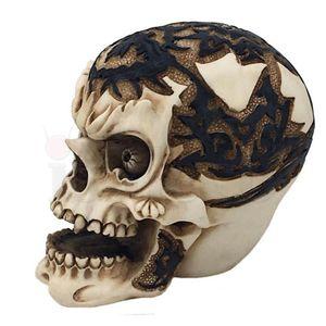 Totenkopf mit Nasenring keltisch bemalt 8cm – Bild 3