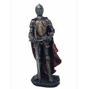 Ritter mit rotem Umhang und Schwert 18,5cm – Bild 1