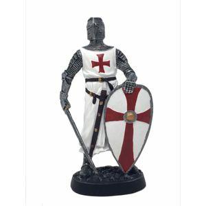 Templer Kreuzritter hält Schwert & Schild mit den Händen 18cm – Bild 1