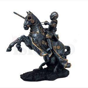 Ritter mit Lanze auf Pferd mit blauen Adler Umhang 25cm – Bild 2