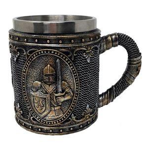 Mittelalter Ritterkrug Ritter mit Schwert und Adler Schild – Bild 1