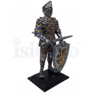 Ritter steht mit Schwert und Löwenschild 22,5cm – Bild 2