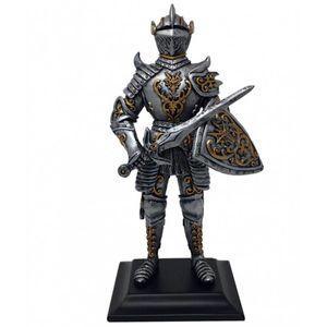 Ritter steht mit Schwert und Drachenschild 22,5cm – Bild 1