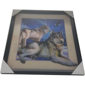 5D Wackelbild - Wölfe am Nachthimmel 40x40 Lenticular Optik – Bild 5