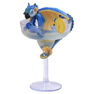 Margarita Dragon Drache im Cocktail Glas by S. Morrision 21cm